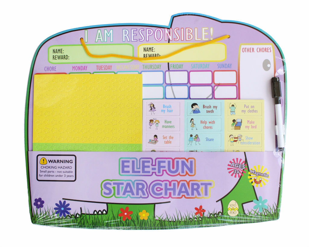 Magnetic Ele-fun Star Chart for 2 kids in Packaging