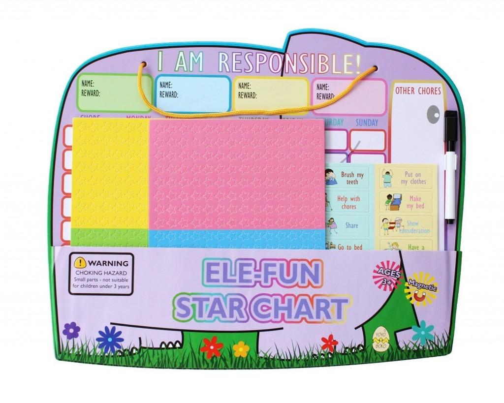 Yoyoboko Magnetic Responsibility Star Chore Chart